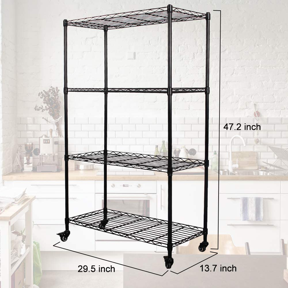 LENTIA Metal Wire Shelving Unit