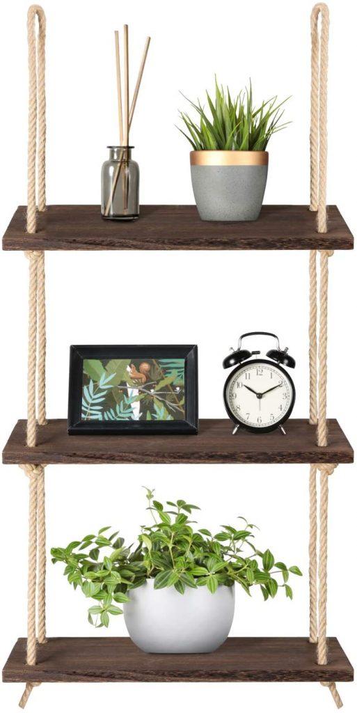 Mkono Wall Hanging Shelves Wood Window Shelf