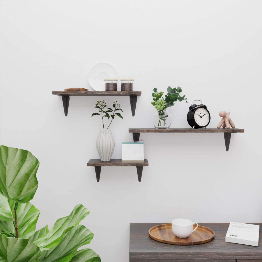 BAMFOX Floating Shelves Wall Mounted Set of 3