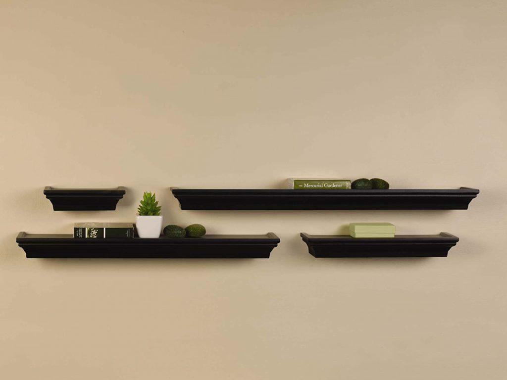 Melannco Floating Wall Mount Molding Ledge Shelves