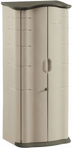 Rubbermaid FG374901OLVSS Vertical Storage Shed