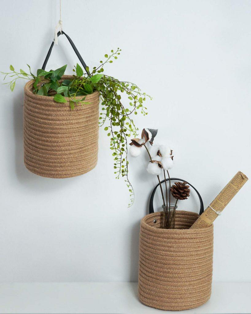 Goodpick 2pack Jute Hanging Basket