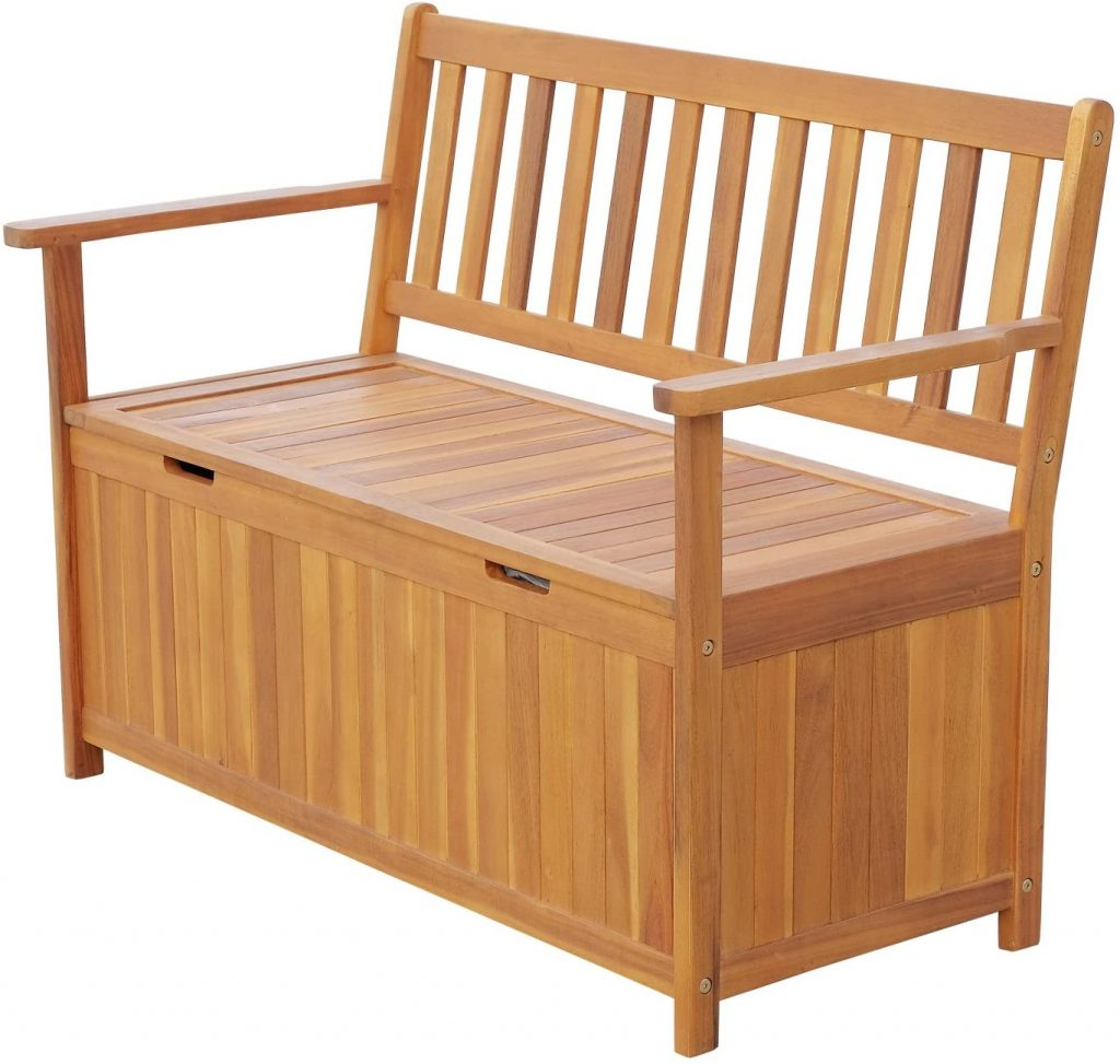 "Outsunny 47"" Wooden Outdoor Storage Bench"