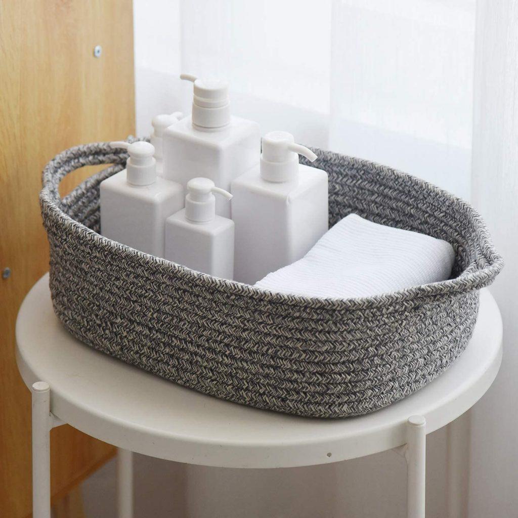 Cotton Rope Storage Basket Bin