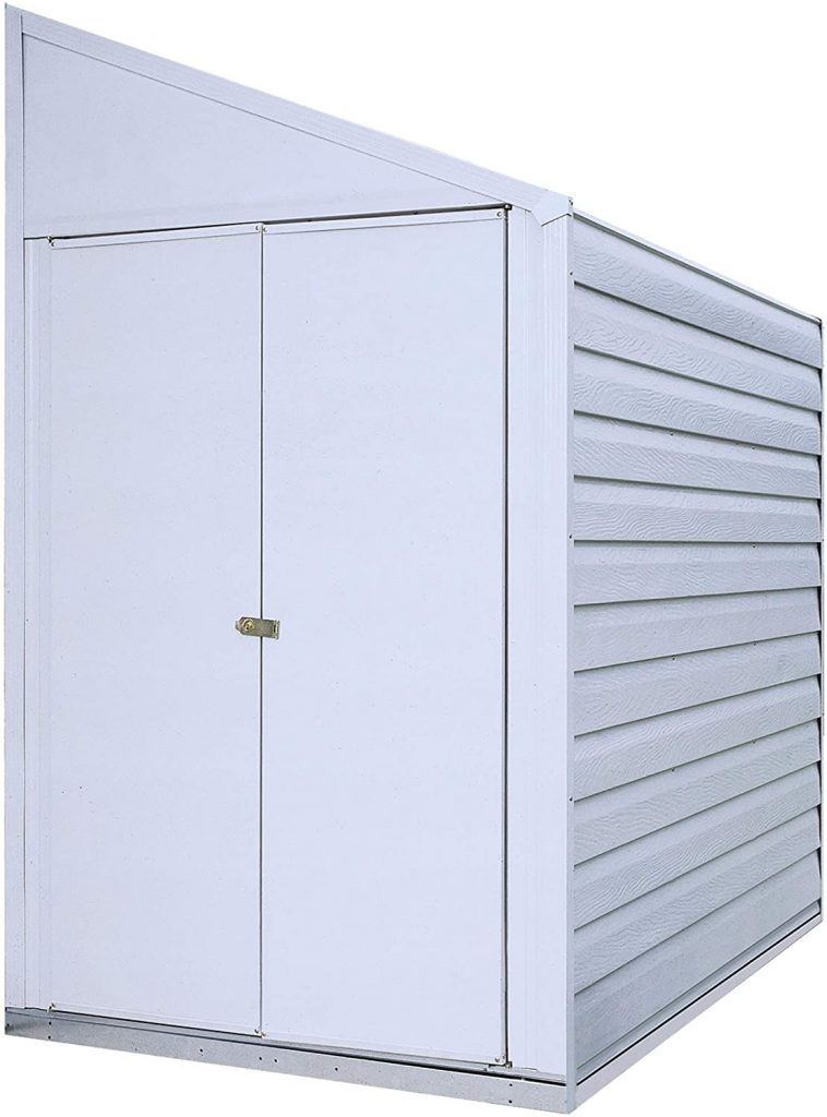 Arrow 4' x 7' Yardsaver Compact Galvanized Steel Storage Shed