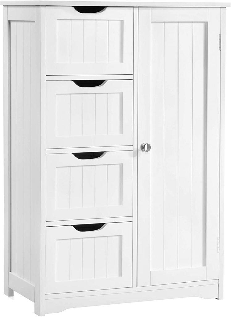 Yaheetech Wooden Bathroom Floor Cabinet