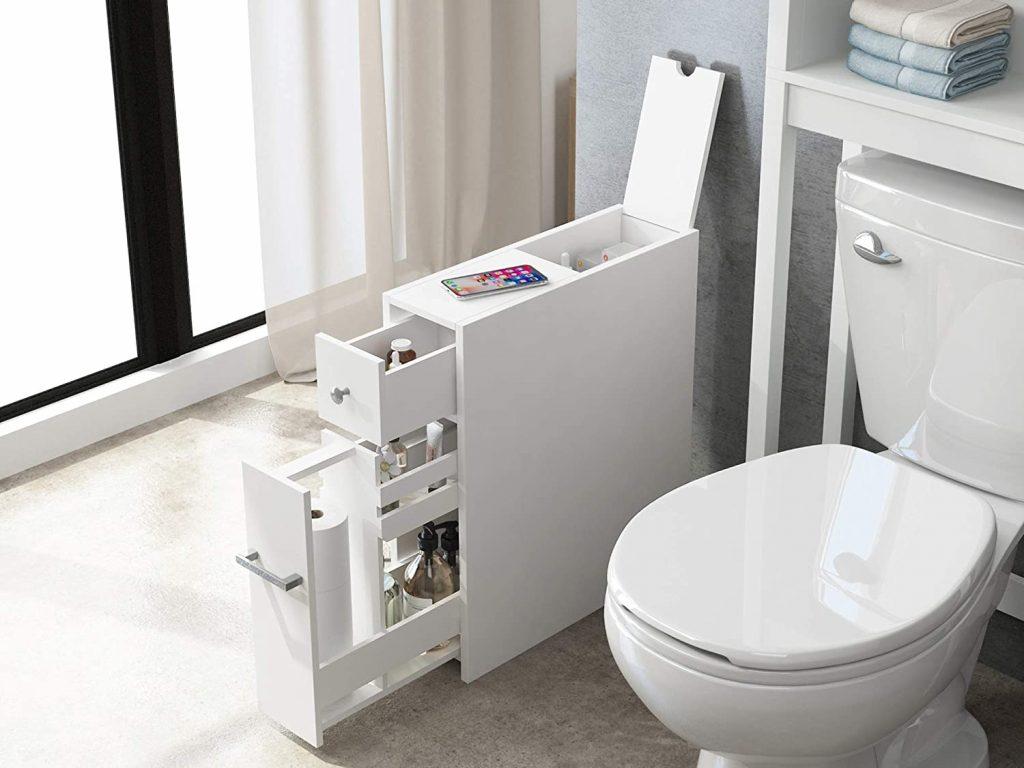 Spirich Home Slim Bathroom Storage Cabinet