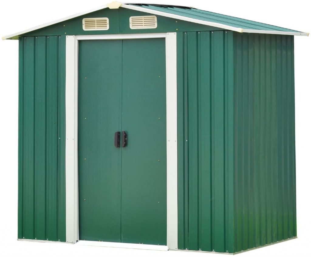 4x6 Ft Outdoor Tool Storage Shed for Garden Yard Green