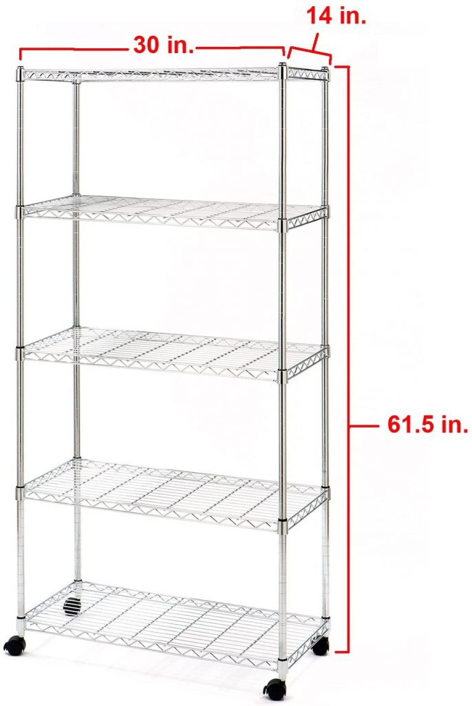 Seville Classics 5-Tier Steel Wire Shelving