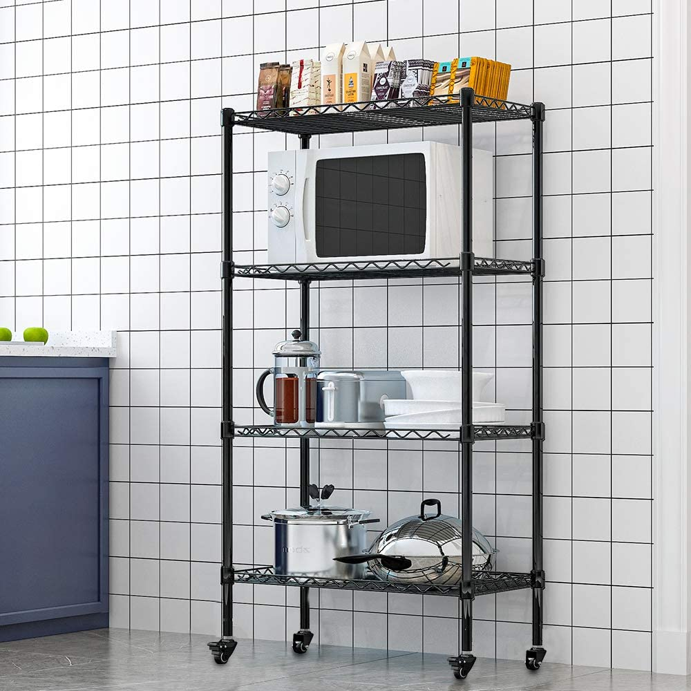 LENTIA Metal Wire Shelving Unit, 5-Shelf