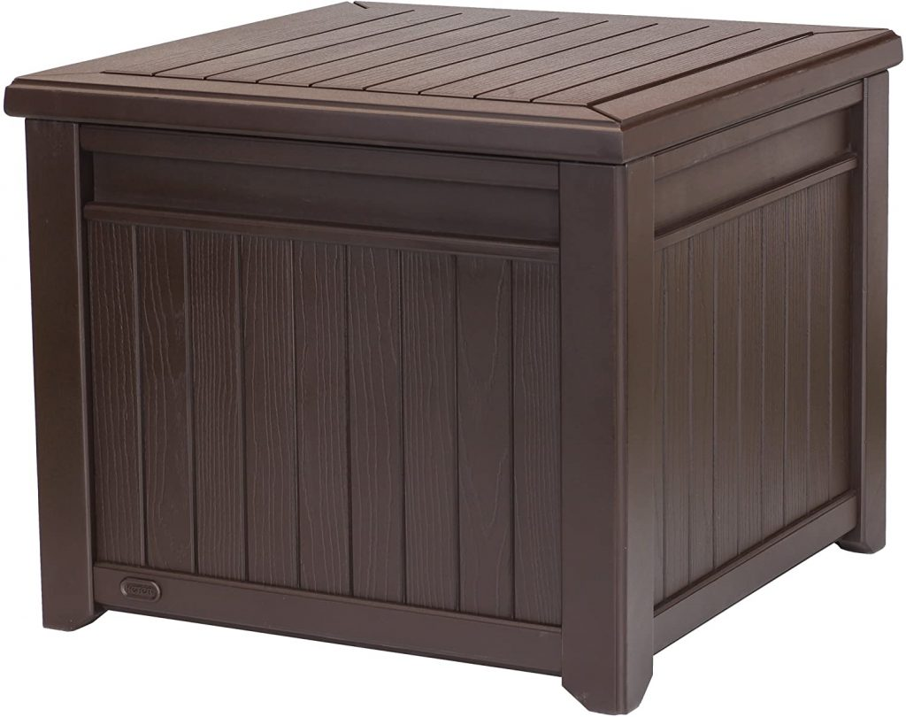 Keter 55 Gallon Resin Wood Look Outdoor Deck Box