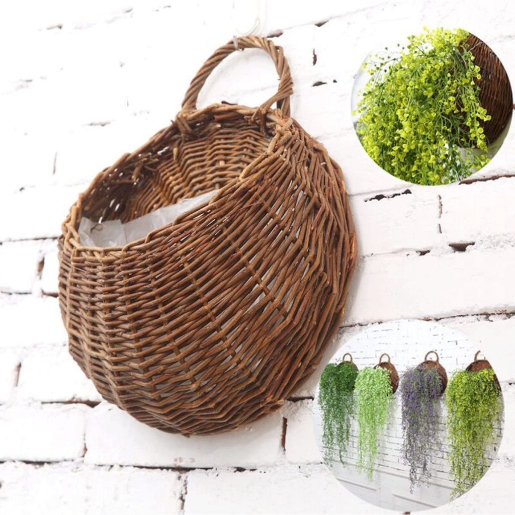 MOTINA Handmade Woven Hanging Basket