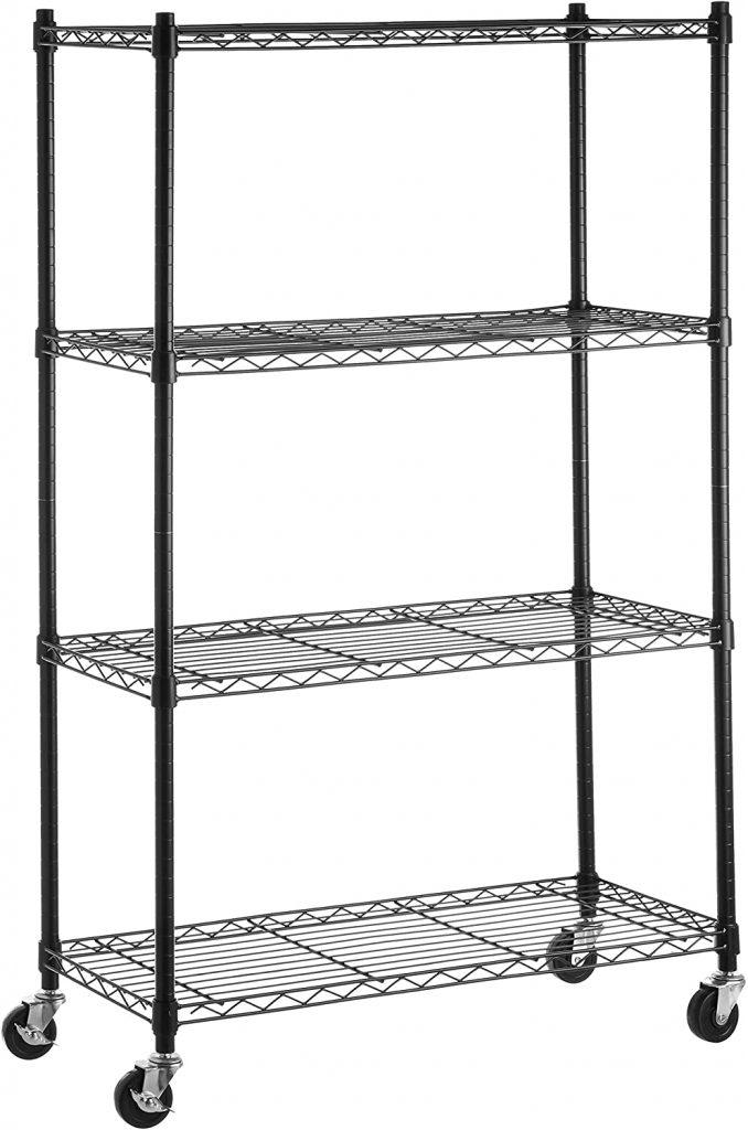 AmazonBasics 4-Shelf Shelving Storage