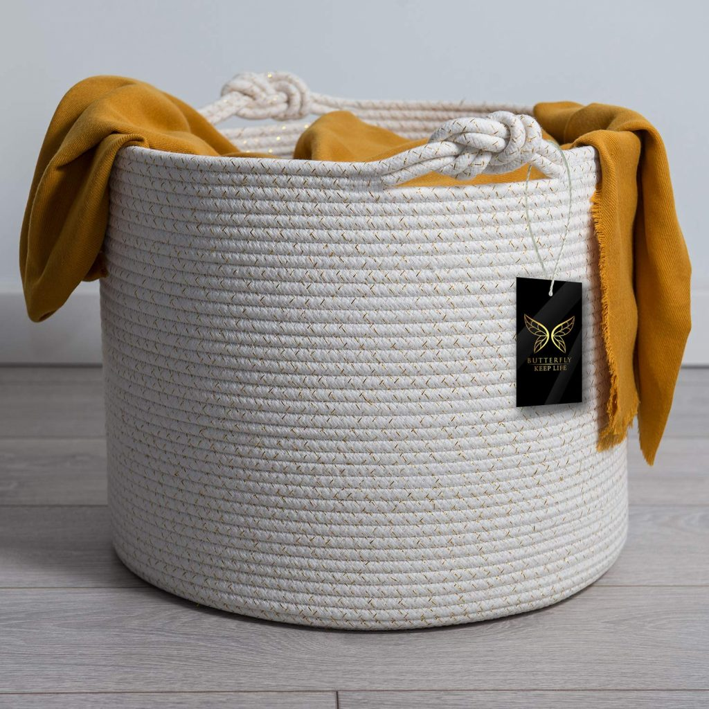 Luxurious Woven Cotton Rope Basket