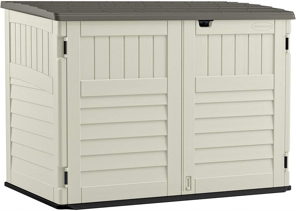 SuncastStow - Away Horizontal Storage Shed - Outdoor Storage Shed