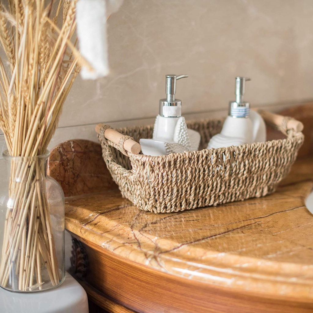 StorageWorks Hand-Woven Wicker Baskets