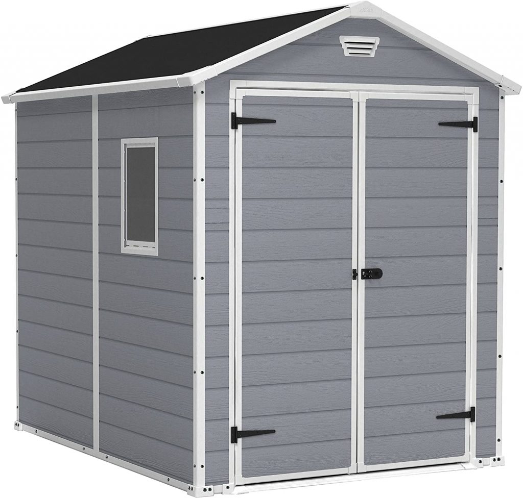 KETER Manor 6x8 Resin Outdoor Storage Shed Kit