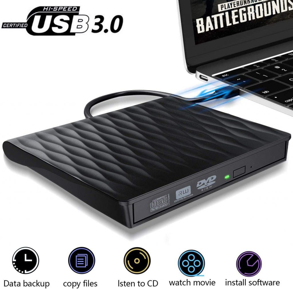ACETEND USB 3.0 External CD Player