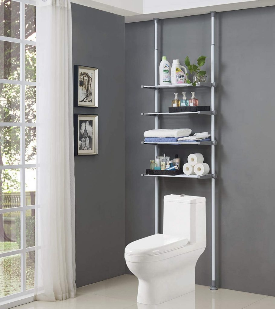 ALLZONE 4 Tier Over Commode Shelving