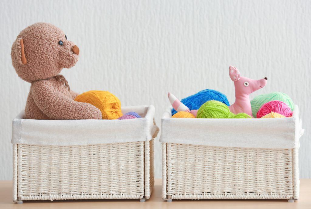 Organize With Wicker Baskets