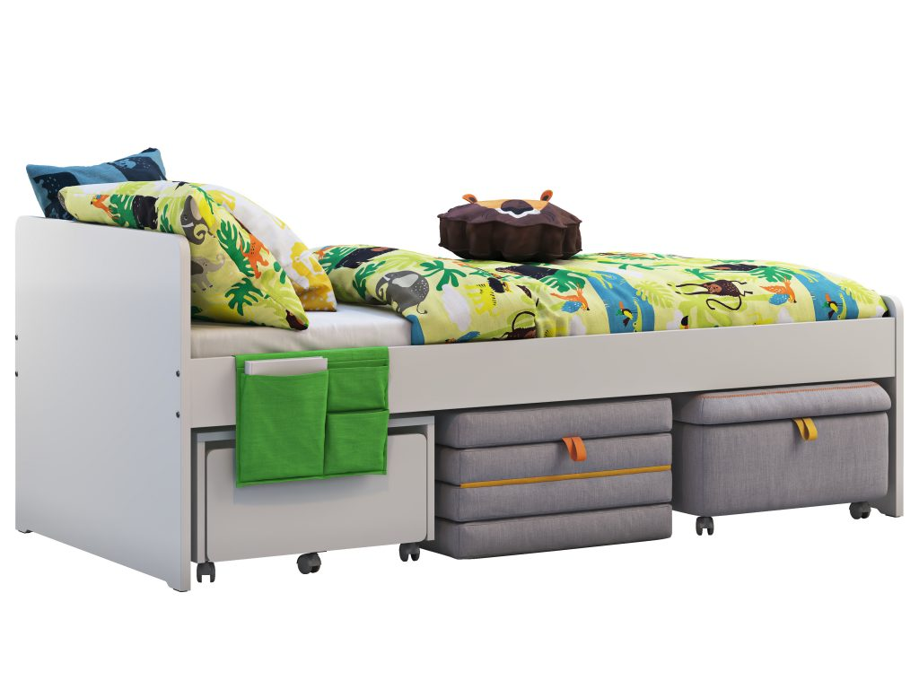 Trundle Bed And Shelves