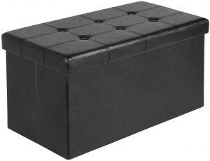 AuAg Folding Storage Ottoman Bench