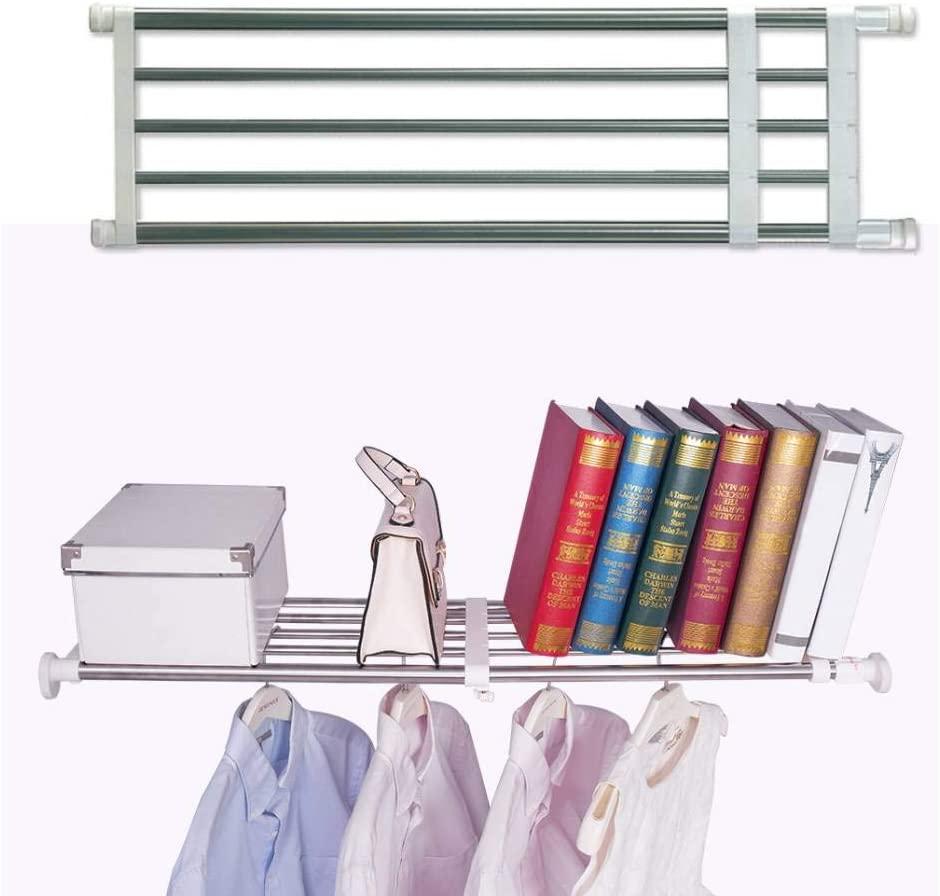 BAOYOUNI Closet Tension Shelf