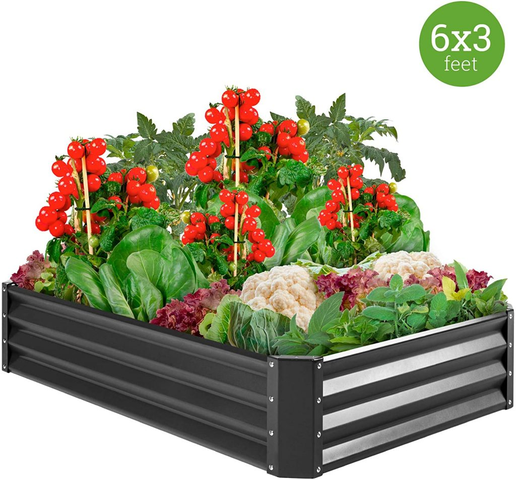 Best Choice Products Outdoor Metal Raised Garden Bed Box
