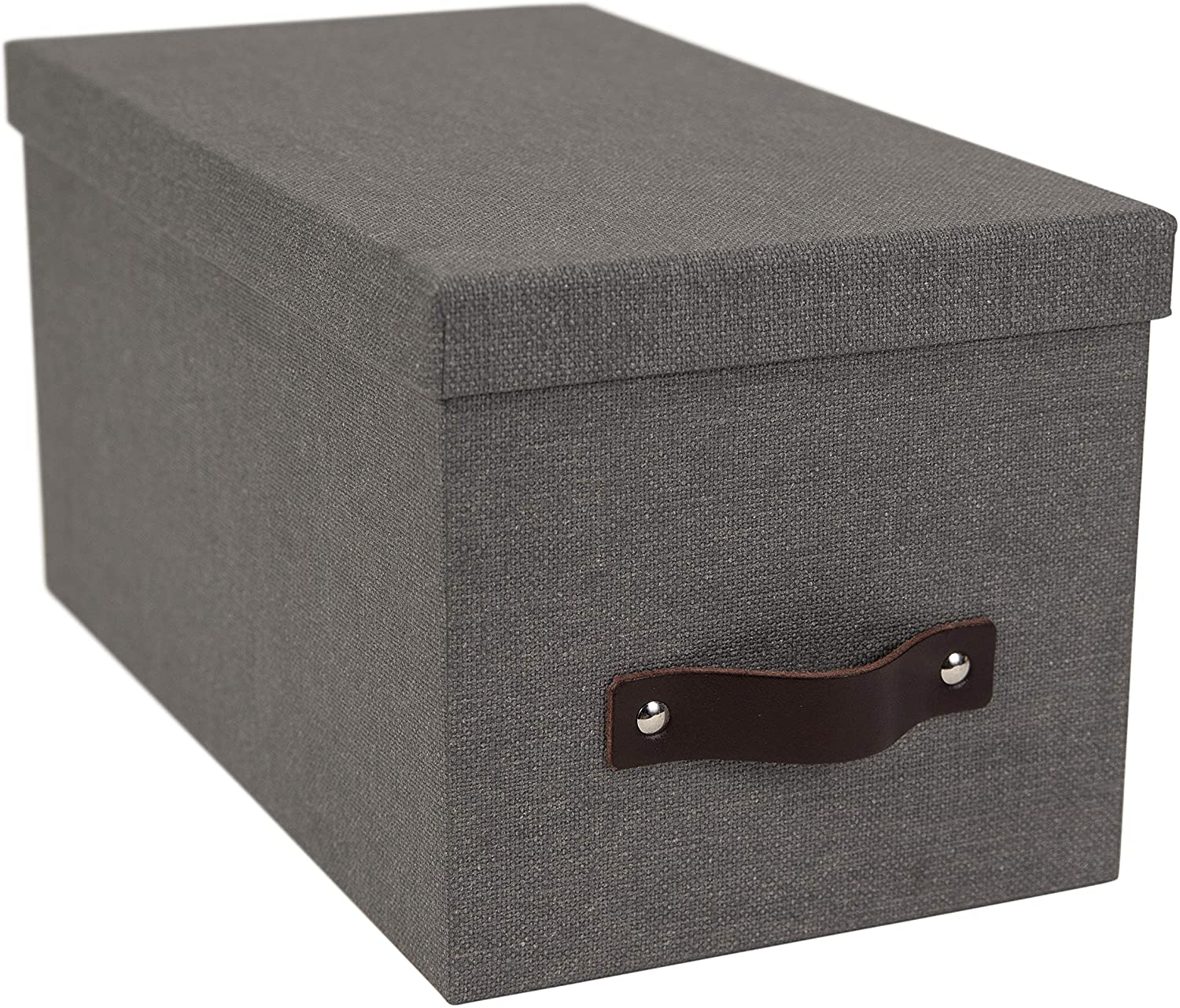 Bigso Silvia Canvas Fiberboard Organizational Storage Box