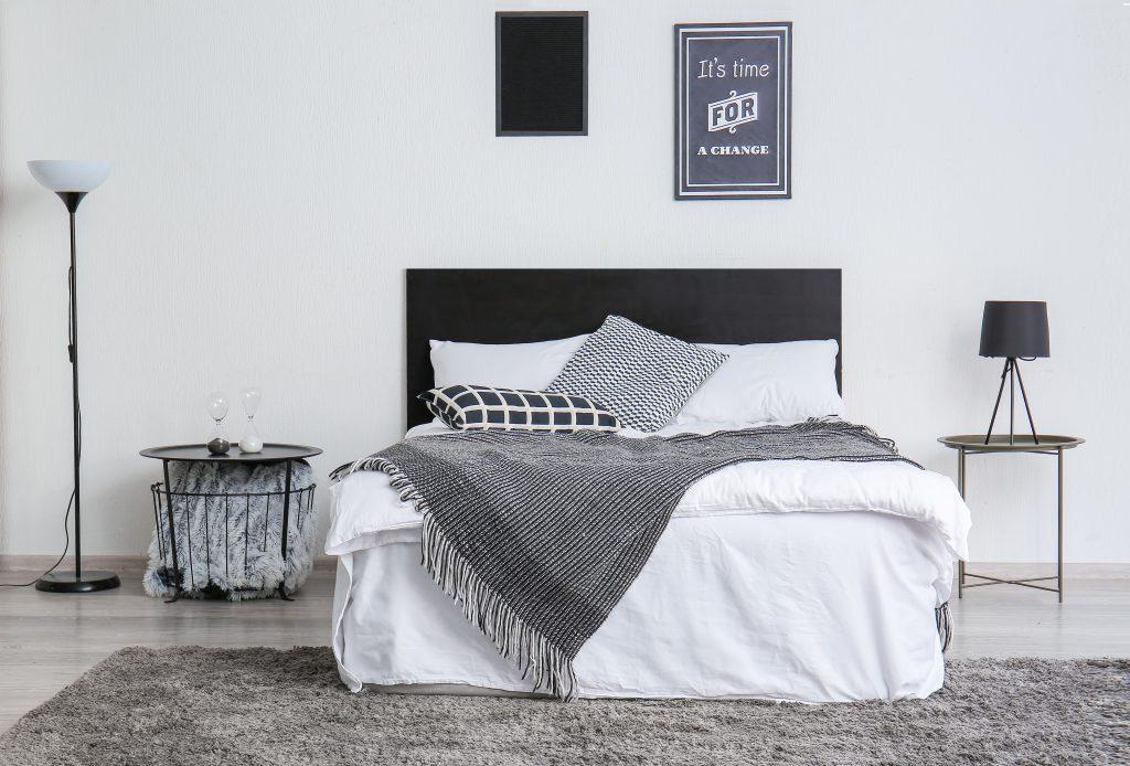 Interior of beautiful modern bedroom