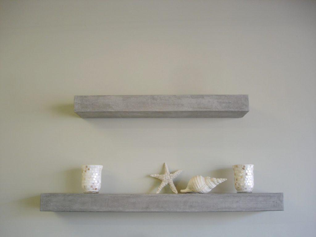 DIY concrete shelves