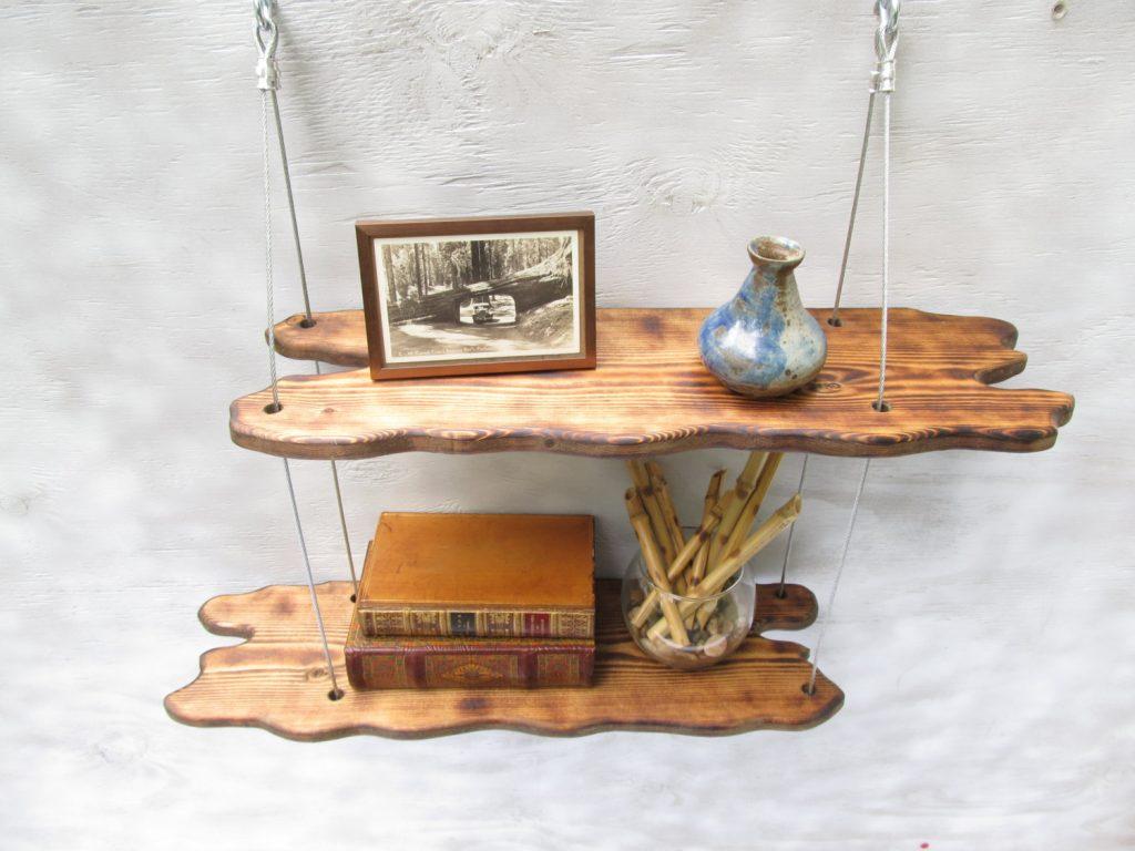 DIY driftwood shelves