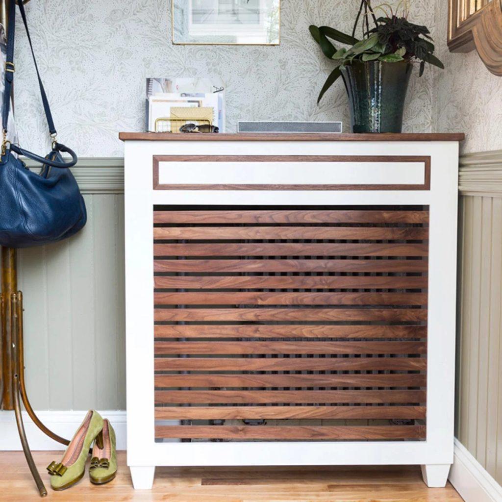 DIY radiator shelf