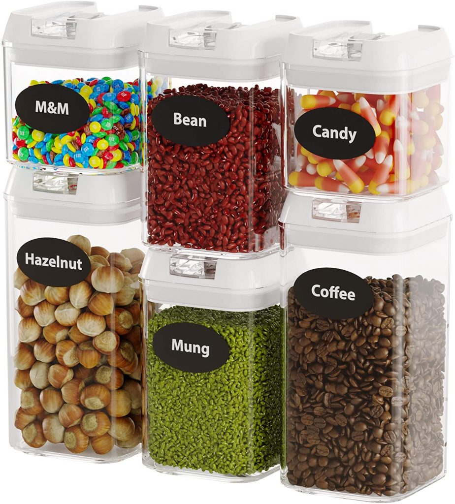 Food Storage Containers, 6 Pieces Set Airtight Food Containers