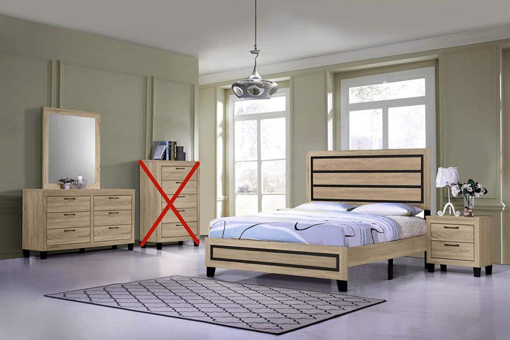 GTU furniture classic minimalist style bedroom set