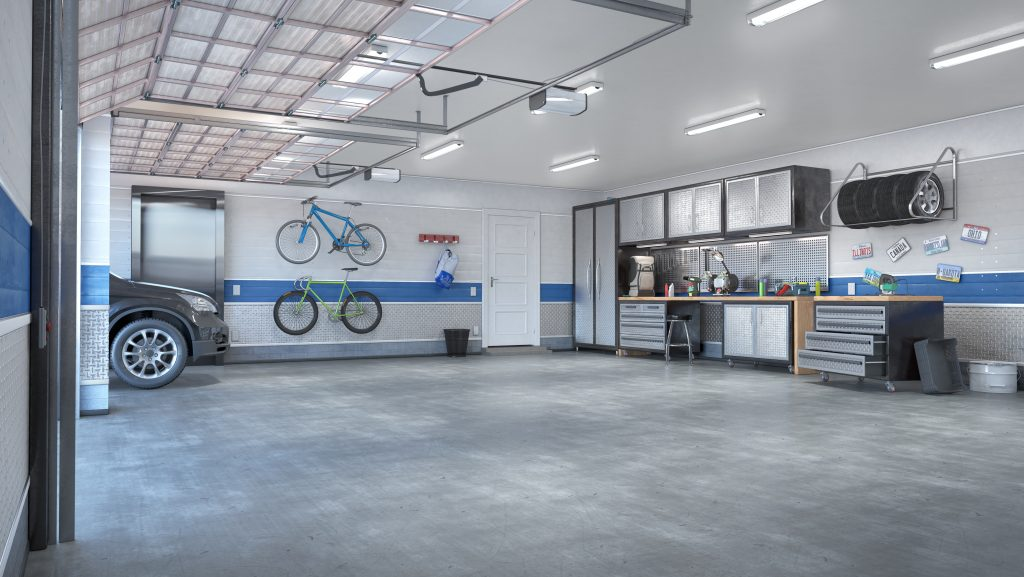 Garage with rolling gate
