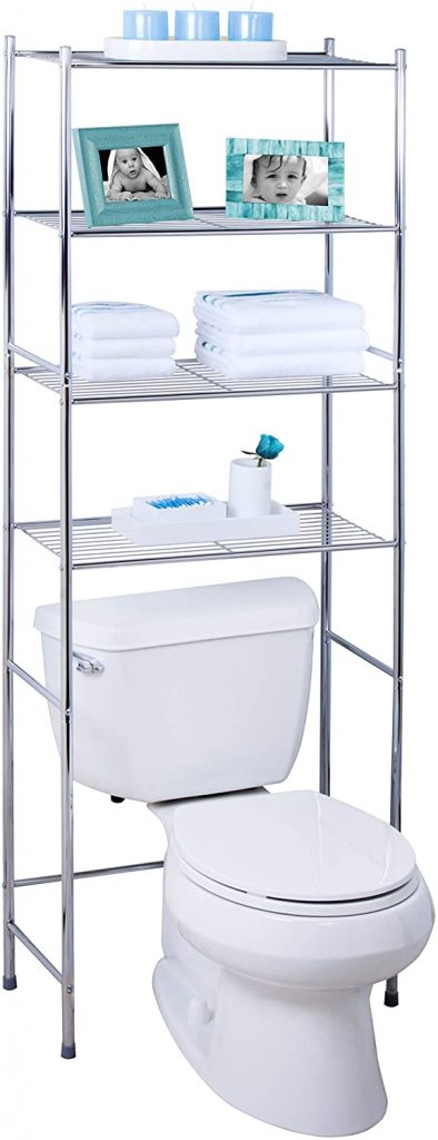 Honey-Can-Do 4-Tier Metal Bathroom Shelf Space Saver