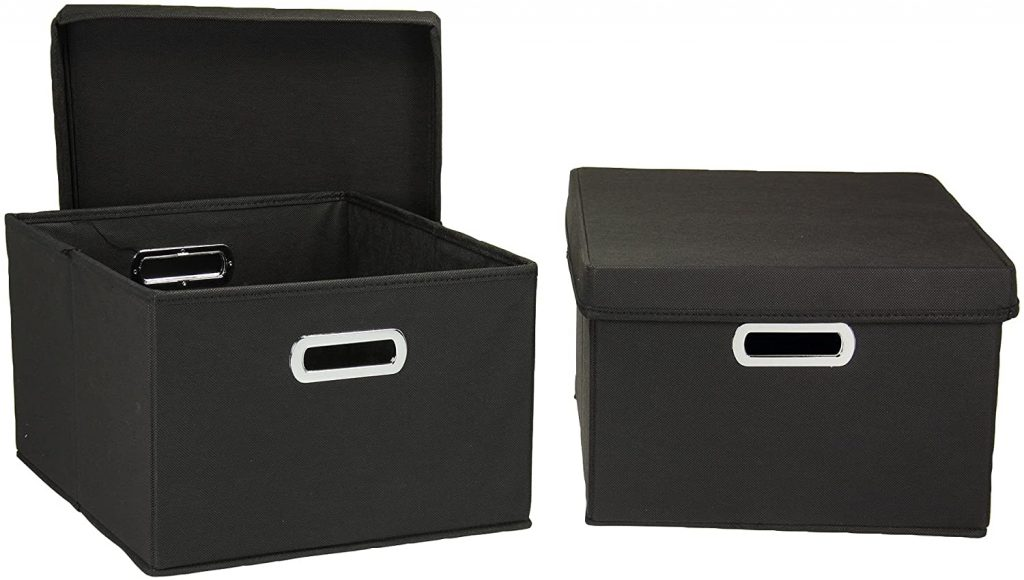 Household Essentials Fabric Storage Boxes with Lids