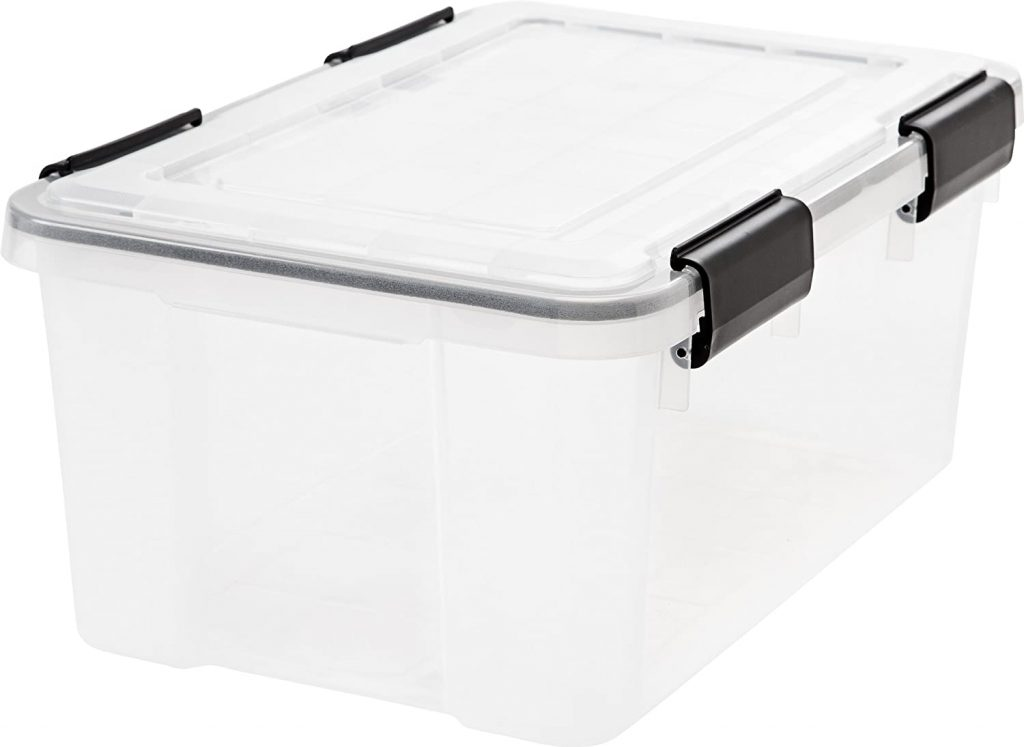 IRIS Weathertight Storage Box, 19 Quart – Clear