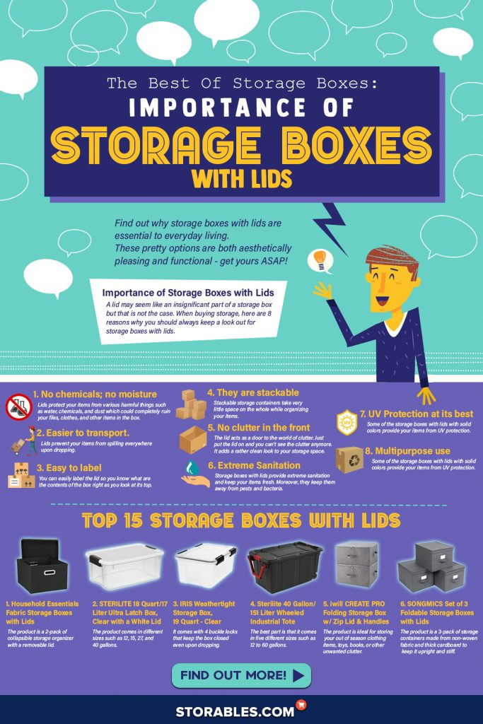 Importance Of Storage Boxes With Lids - INFOGRAPHICS