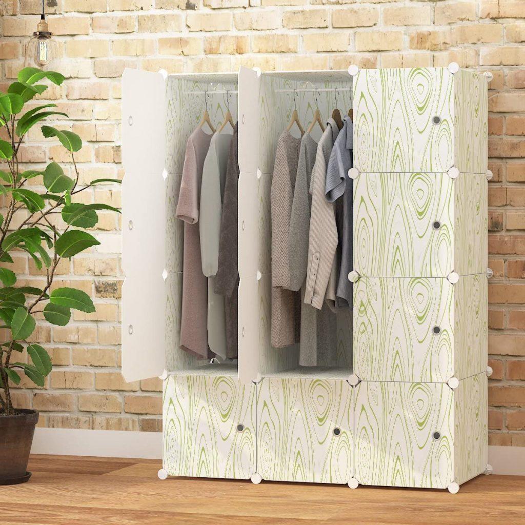 MAGINELS Closet Shelves Wardrobe Clothes Organizer