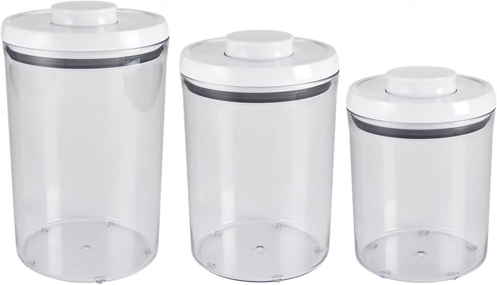 OXO 1128780 Good Grips 3-Piece Airtight POP Round Canister
