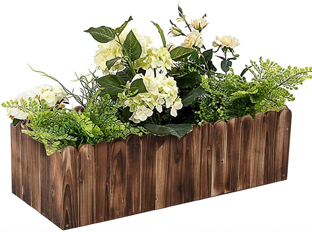 Outsunny Wooden Raised Garden Bed