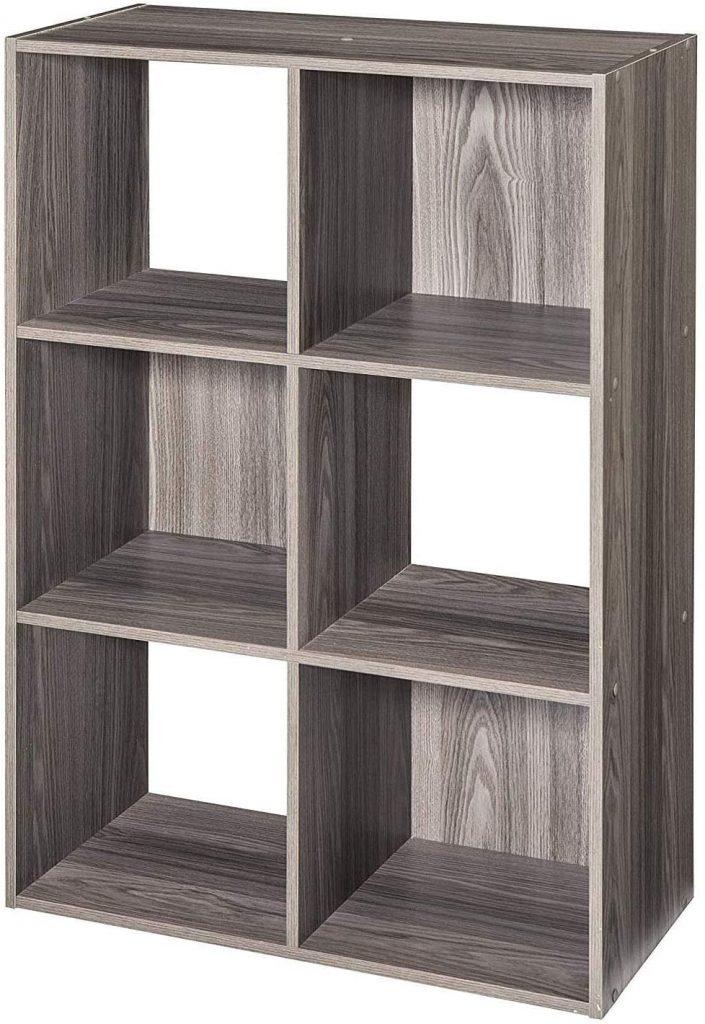 RealOne Wood 6 Cube Storage Organizer Shelf