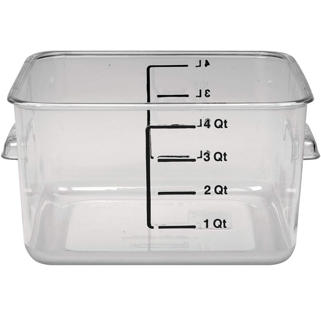 Rubbermaid Plastic Space Saving Food Storage Container