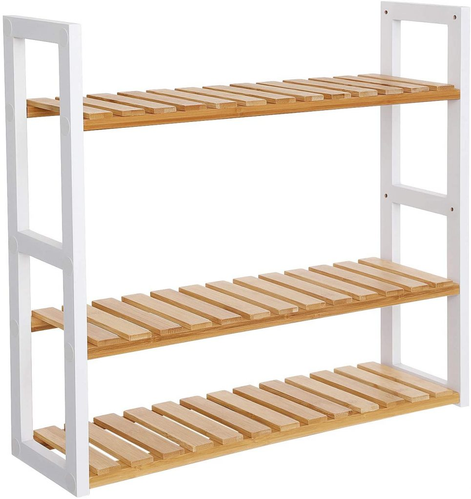 SONGMICS Bamboo Bathroom Shelves