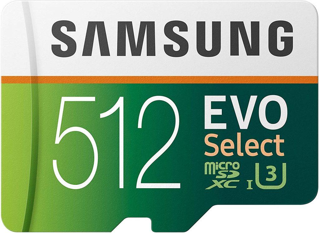 Samsung 512GB MicroSDXC EVO Select Memory Card