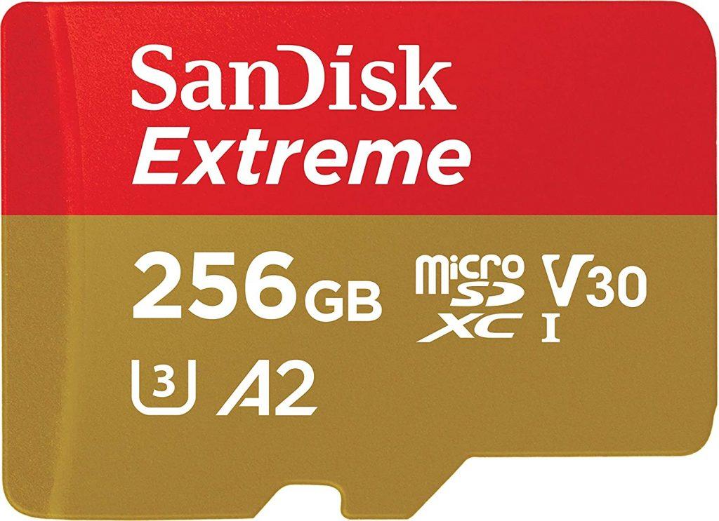 SanDisk 256GB Extreme MicroSDXC UHS-I Memory Card