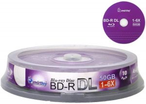 Smart Buy 10 Pack Bd-r Dl 50gb 6X