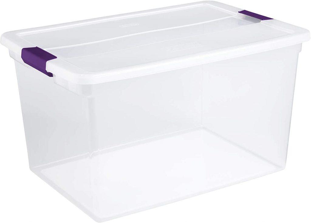 Sterilite 66 Quart ClearView Latch Box, 6-Pack